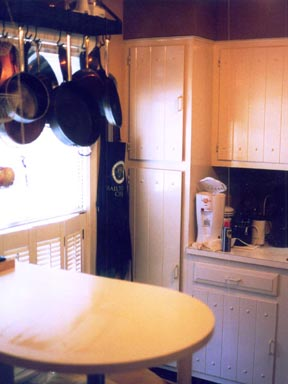 Budget kitchen upgrade we gave the kitchen a quick slap dash cosmetic overhaul by painting the dark cabinets with a high gloss white enamel replacing the light fixture with solutioingenieria Choice Image